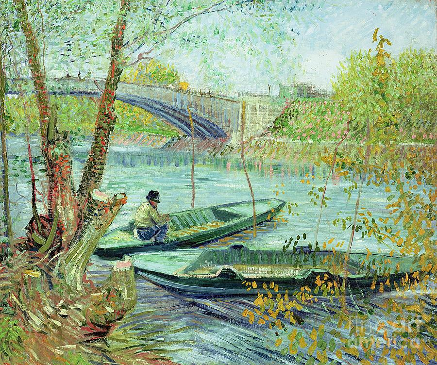 Fishing Painting - Fishing In The Spring by Vincent Van Gogh