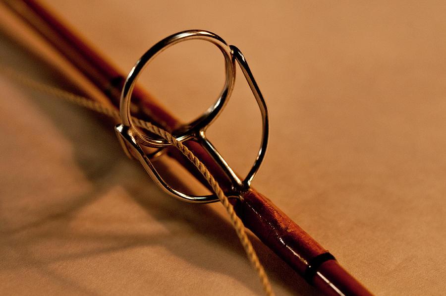 Fishing Photograph - Fishing Pole Ring by Wilma  Birdwell