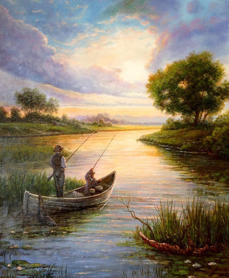изображение рыбаков на картинах