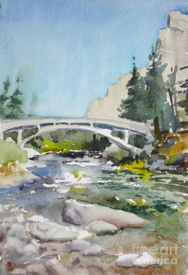 Landscape Painting - Fishing The East Gallatin by Elizabeth Carr