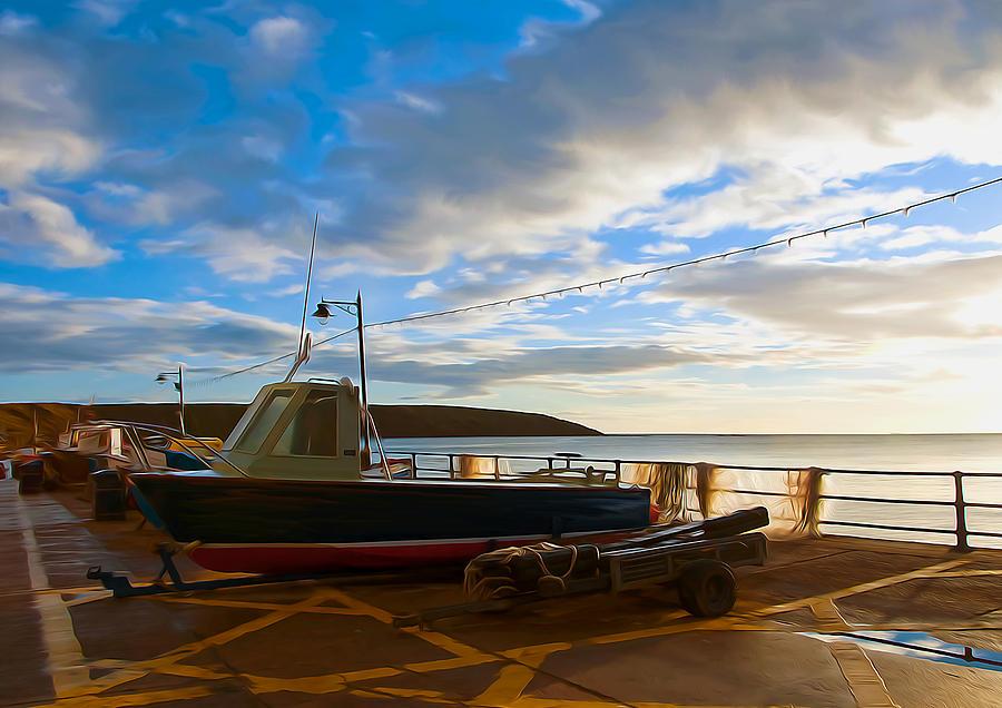 Fishing Village Filey Digital Art