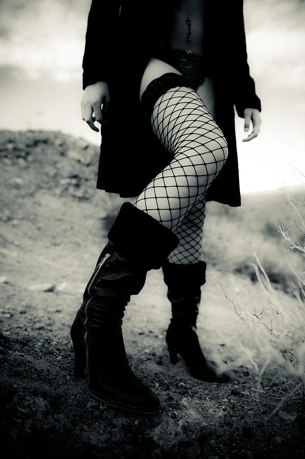 Fishnet Leg Photograph