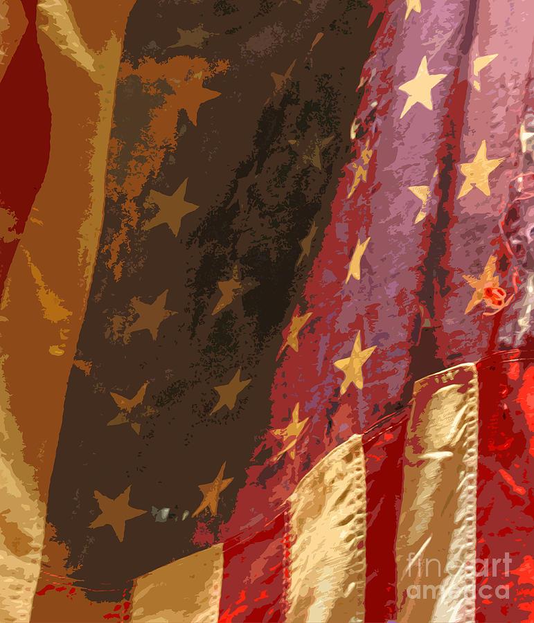 Flag Photograph - Flag 16 by Gary Everson