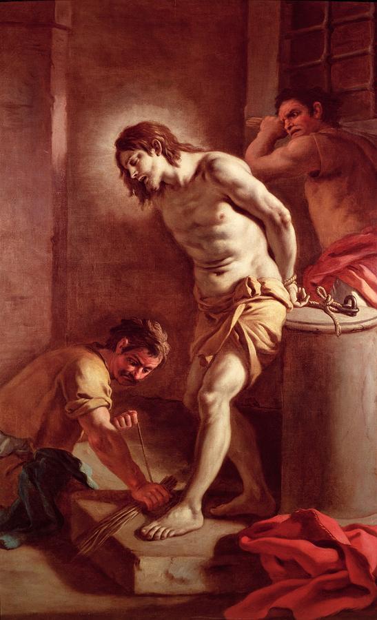 Flagellation Painting - Flagellation Of Christ by Pietro Bardellini