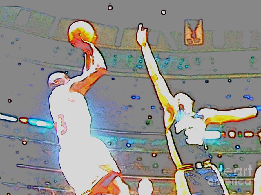 Michael Jordan Digital Art - Flashing Greatness by Brandon Ramquist