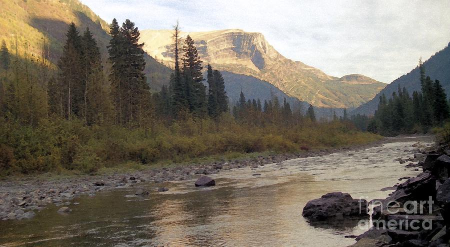 Flathead River Mixed Media - Flathead River by Richard Rizzo