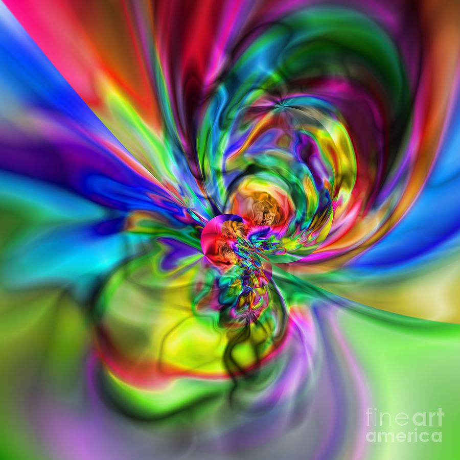 Zen Digital Art - Flexibility 17caa by Rolf Bertram