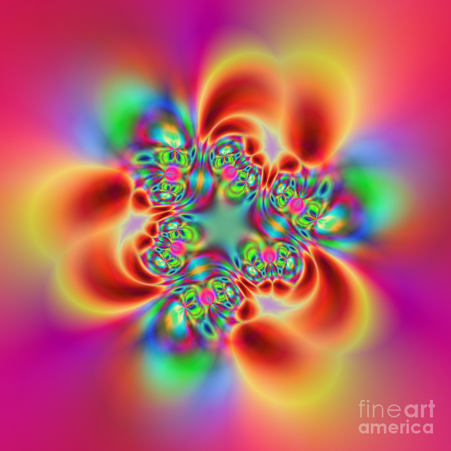 Colorful Digital Art - Flexibility 18bb by Rolf Bertram