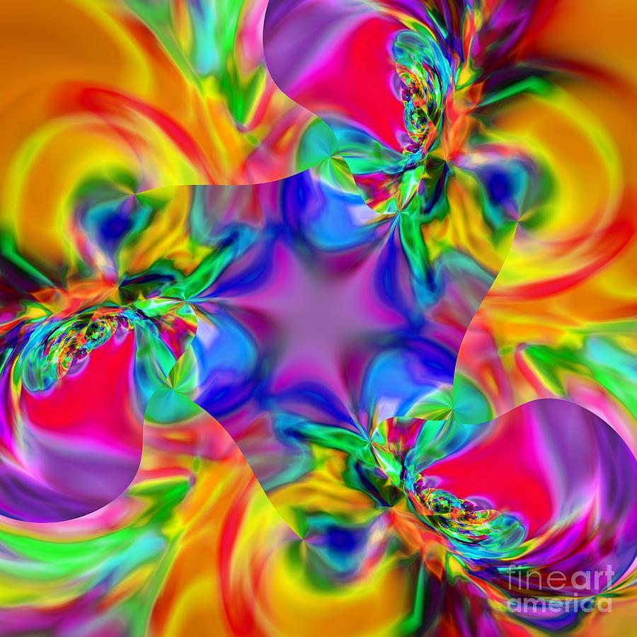 Kaleidoscopic Digital Art - Flexibility 20caa by Rolf Bertram