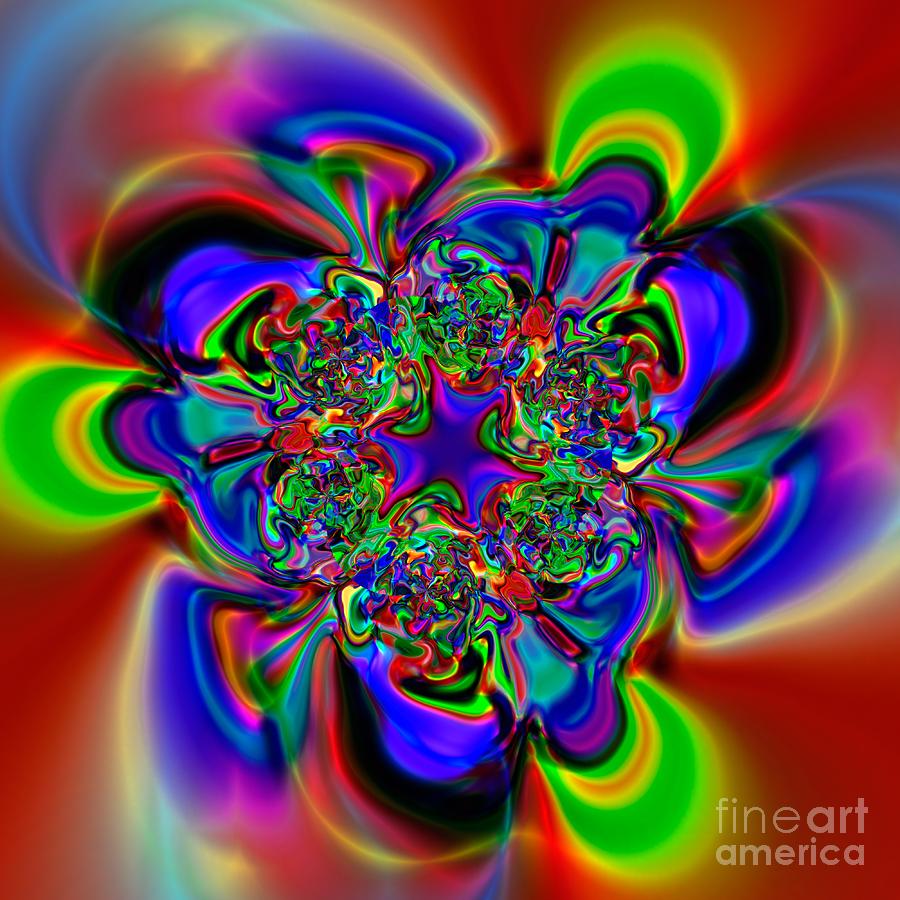 Abstract Digital Art - Flexibility 49l by Rolf Bertram
