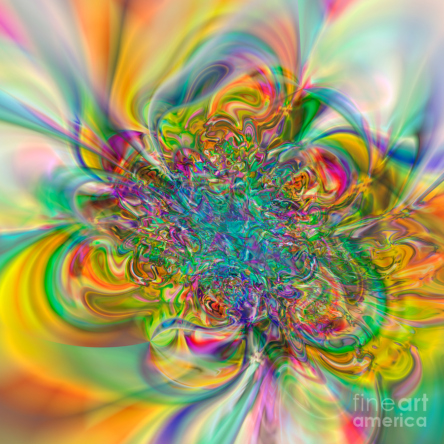 Abstract Digital Art - Flexibility 57abc by Rolf Bertram