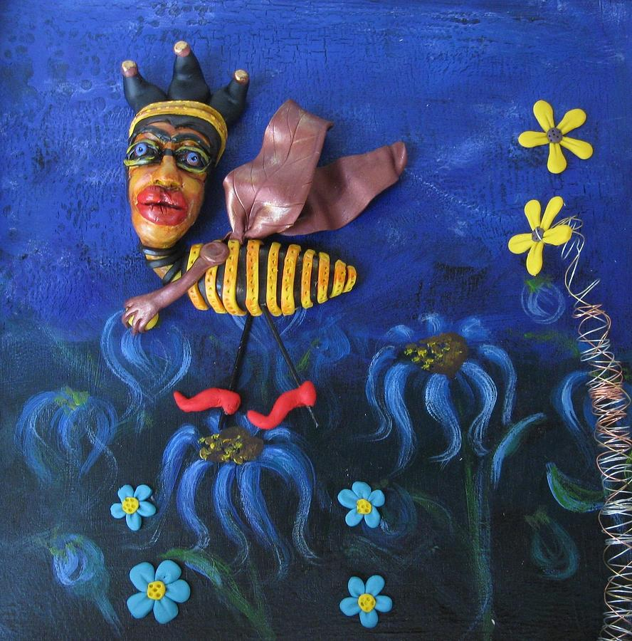 Bee Sculpture - Flight Of The Bumblebee by Cathi Doherty