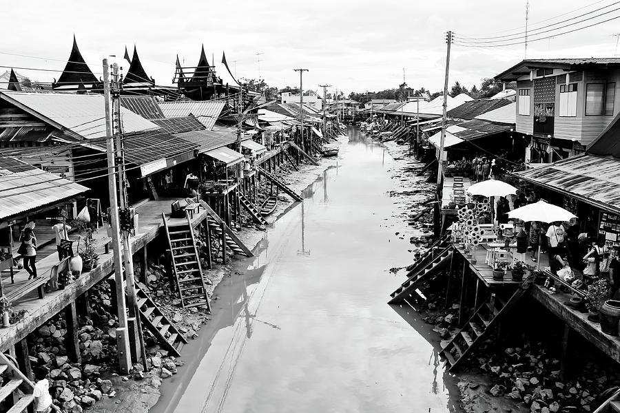 Asia Photograph - Floating Market In Thailand by Sarayut Mathavetchathum