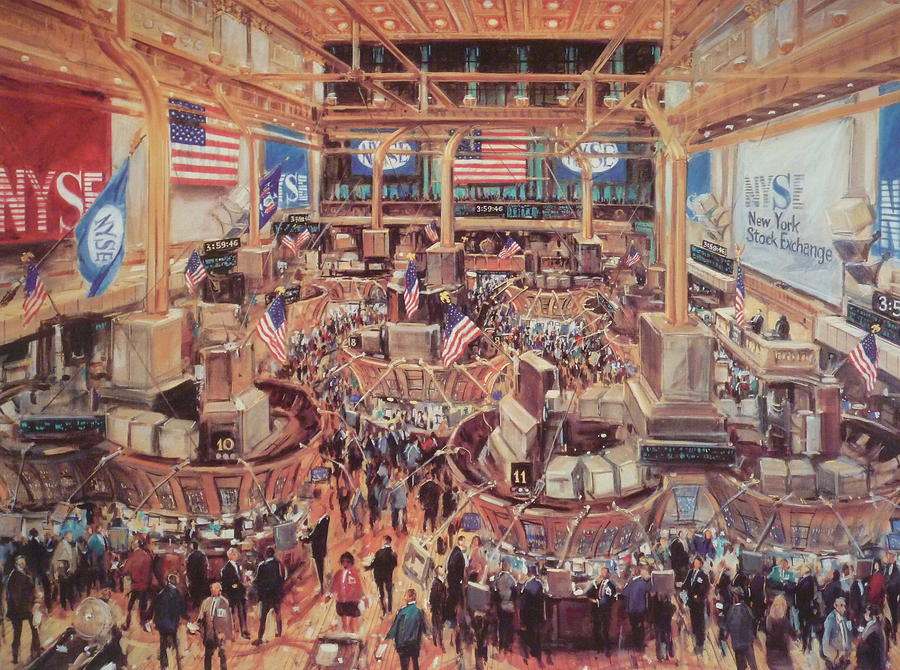 Ny Stock Exchange Mixed Media - Floor Of The Nyse by Kamil Kubik