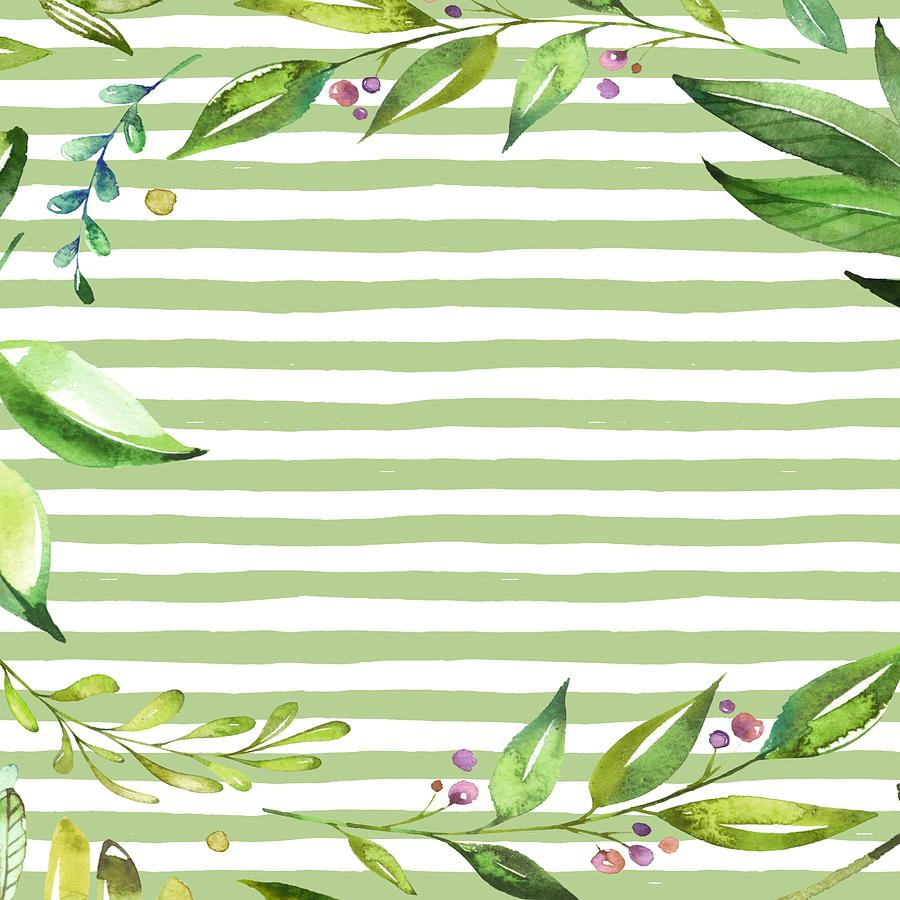 Floral Leafy Greenery Painting