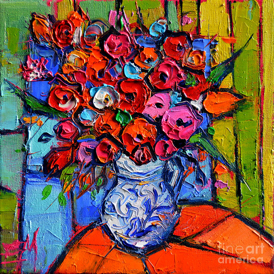 Floral Miniature - Abstract 0715 - Colorful Bouquet ... - photo #19