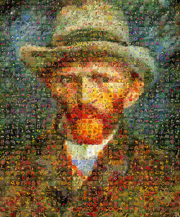 Mosaic Digital Art - Floral Van Gogh by Gilberto Viciedo