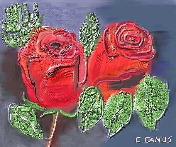 Arte Painting - Flores- Rosas Rojas by Carlos Camus