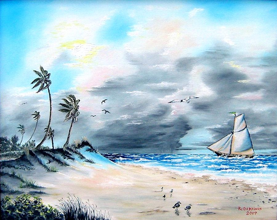 Storm Painting - Florida Tempest by Riley Geddings