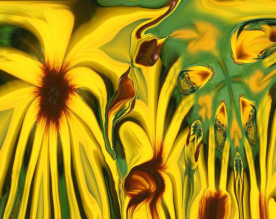 Abstract Photograph - Flower Fun by Linda Sannuti