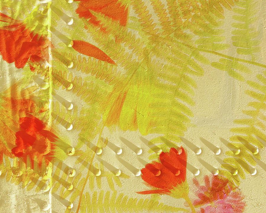 Digital Art Prints Digital Art Digital Art - Flower Shower II by Bonnie Bruno