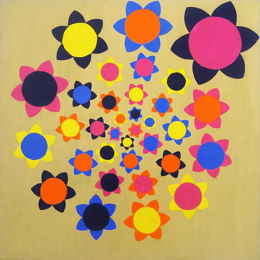 Flower Painting - Flower Shower by Oliver Johnston