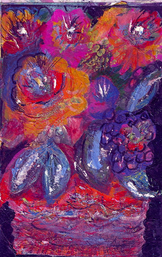 Flowers In Passionate Colors Painting
