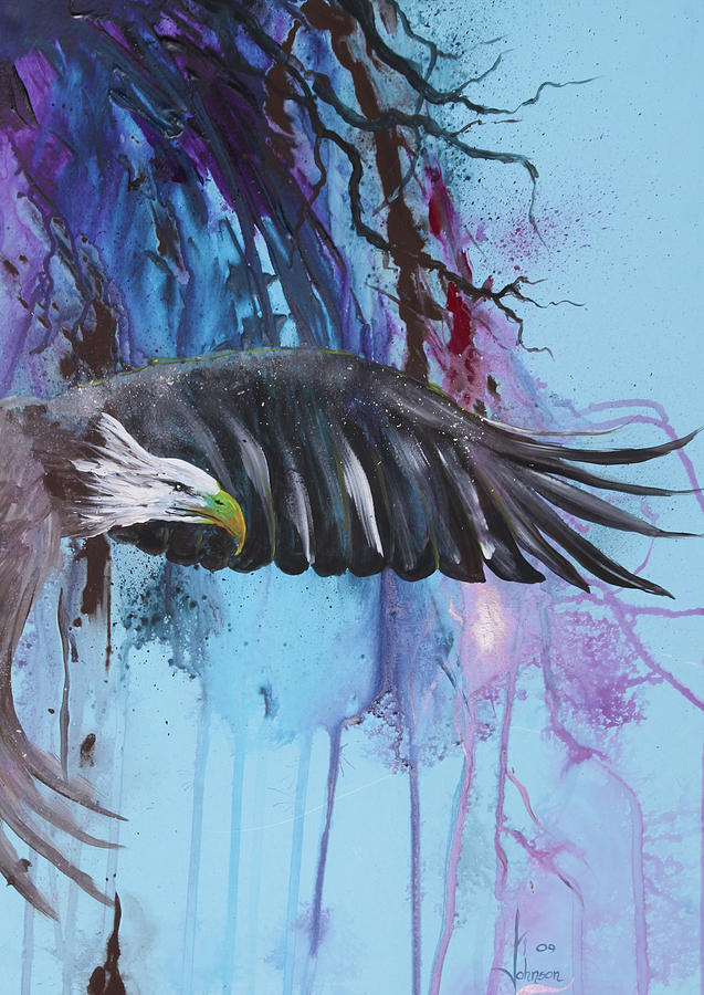 Exotc Birds Painting - Flying High by Larry  Johnson