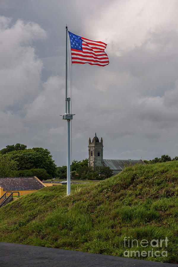 Flying Proud Over Fort Moultrie Photograph