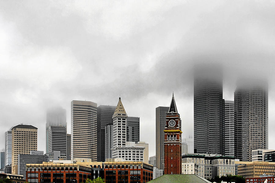 Fog Accents Of Seattle Wa Photograph