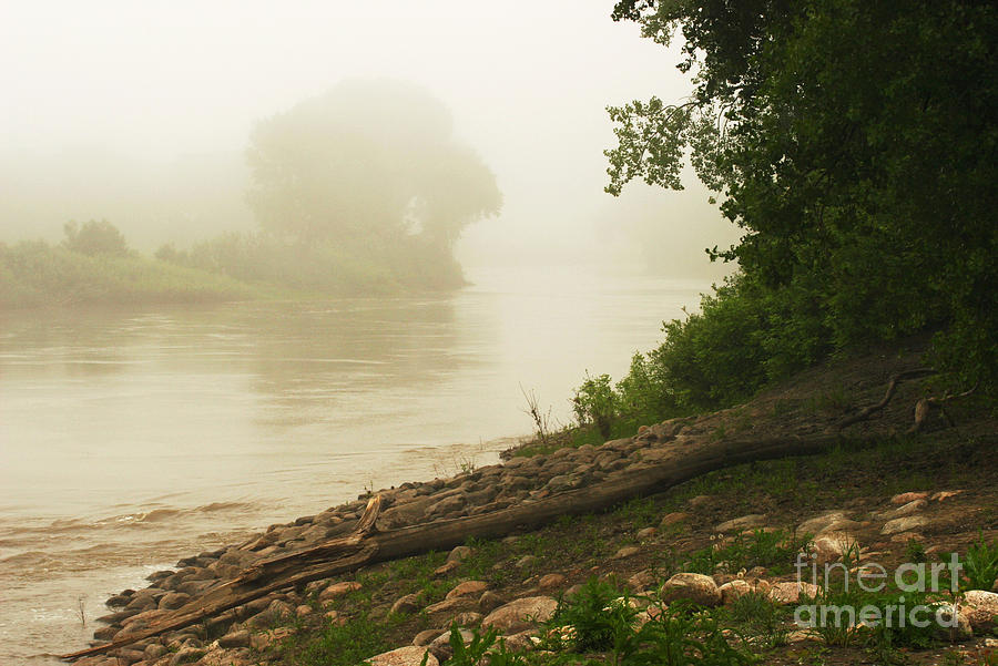 Red River Photograph - Fog Along The Red by Steve Augustin