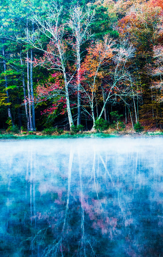 Oak Mountain Photograph - Fog On The Lake by Parker Cunningham