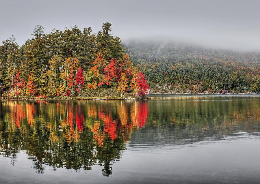 Autumn Photograph - Foggy Morning by Evelina Kremsdorf