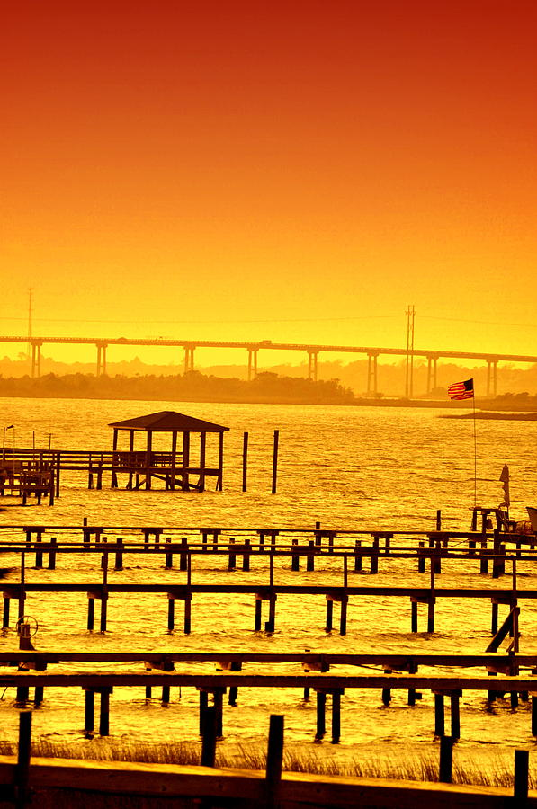 Foggy Sunset Photograph