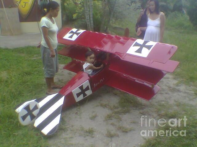 Triplane Sculpture - Fokker Dr1 Triplane  by Richard John Holden RA