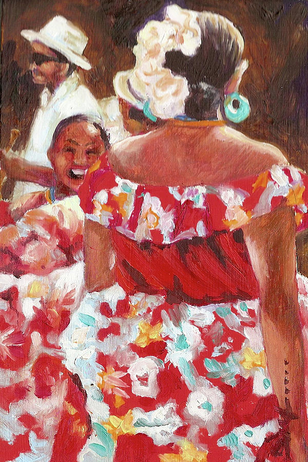Dancers Painting - Folklorica I by Monica Linville