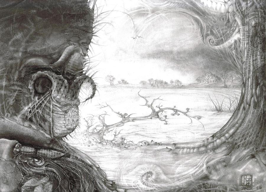 Fomorii Drawing - Fomorii Swamp by Otto Rapp