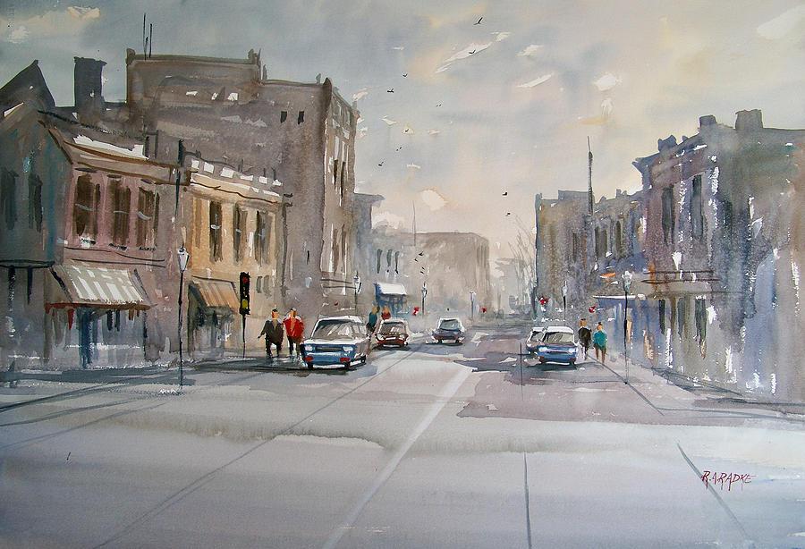 Watercolor Painting - Fond Du Lac - Main Street by Ryan Radke