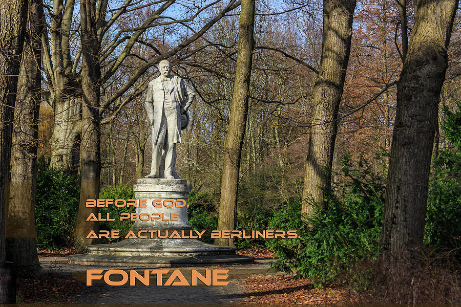 Fontane Quote About Berlin Photograph
