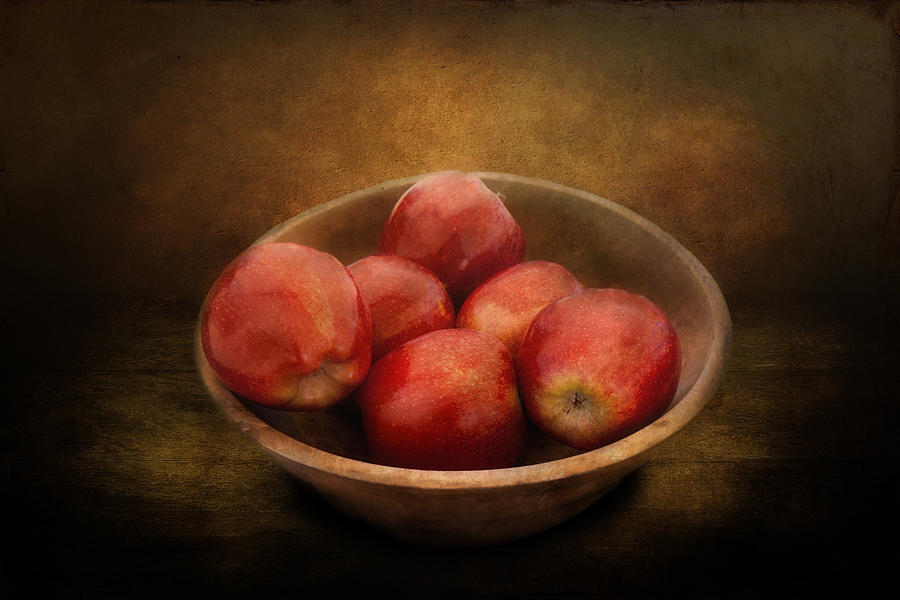 Hdr Photograph - Food - Apples - A Bowl Of Apples  by Mike Savad