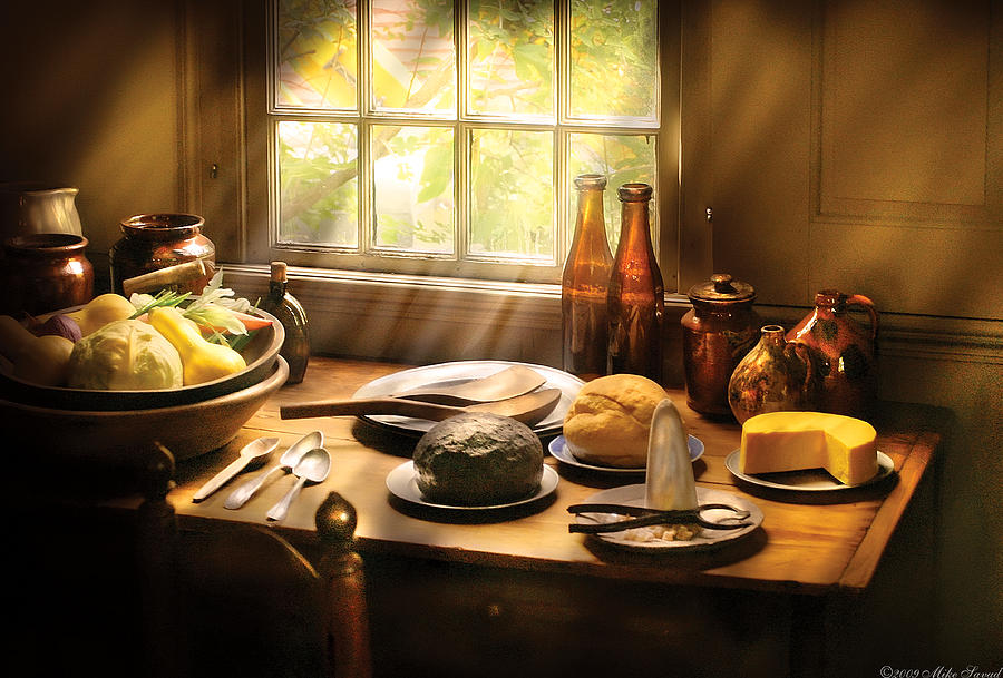 Savad Photograph - Food - Ready For Guests by Mike Savad