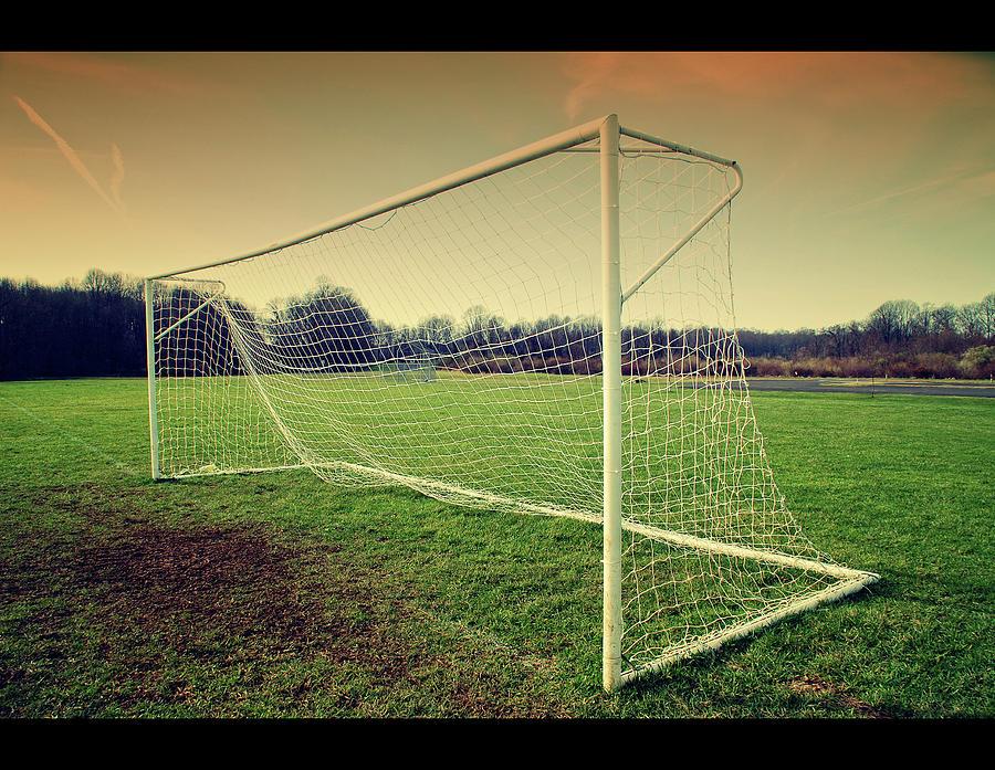 Horizontal Photograph - Football Goal by Federico Scotto