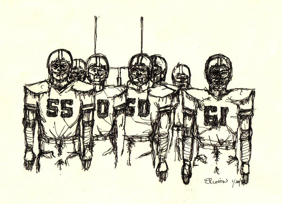 Football Mixed Media - Football Nasties by Brett H Runion