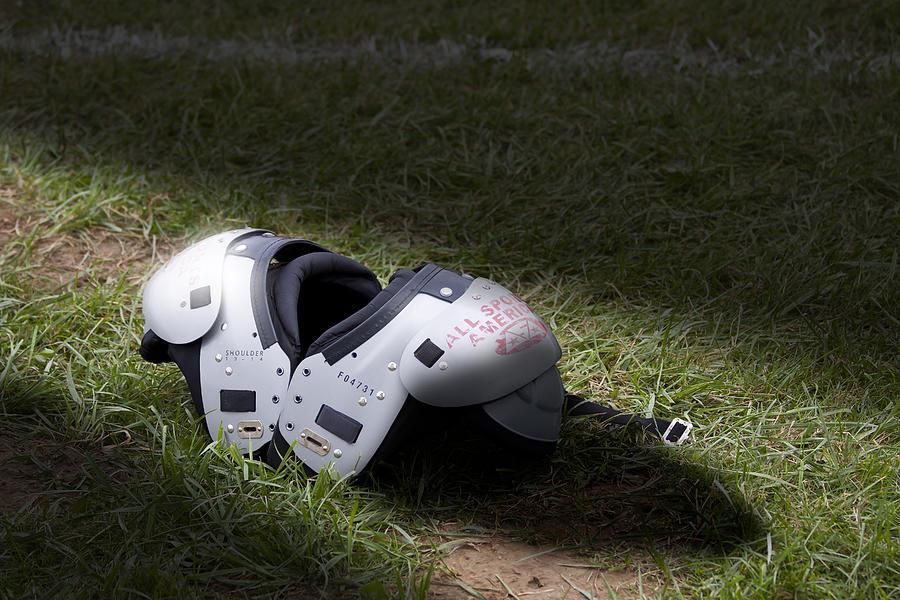 Football Photograph - Football Shoulder Pads by Tom Mc Nemar