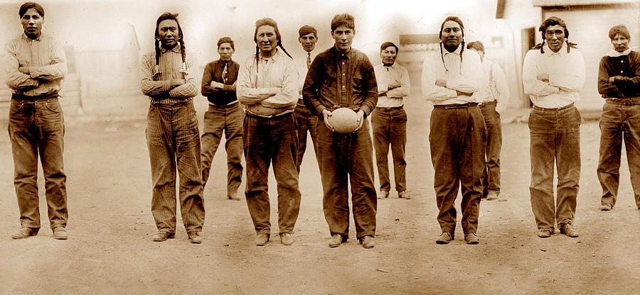 Football, Sioux Native American Photograph