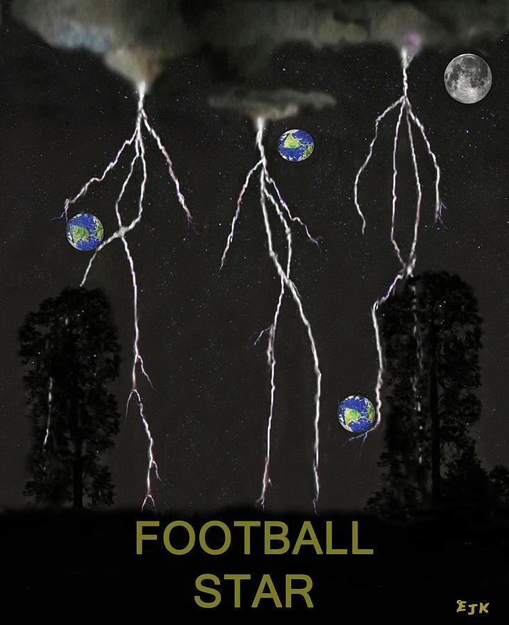 Football Star Mixed Media - Football Star by Eric Kempson