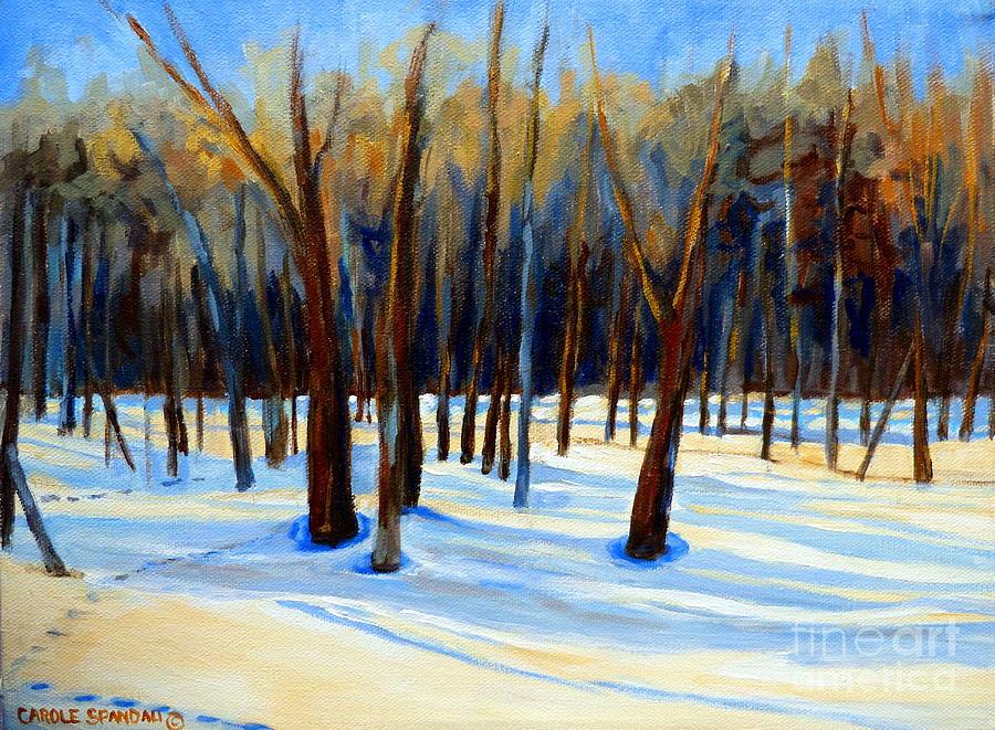 Beautiful Winter Painting - Footprints  by Carole Spandau
