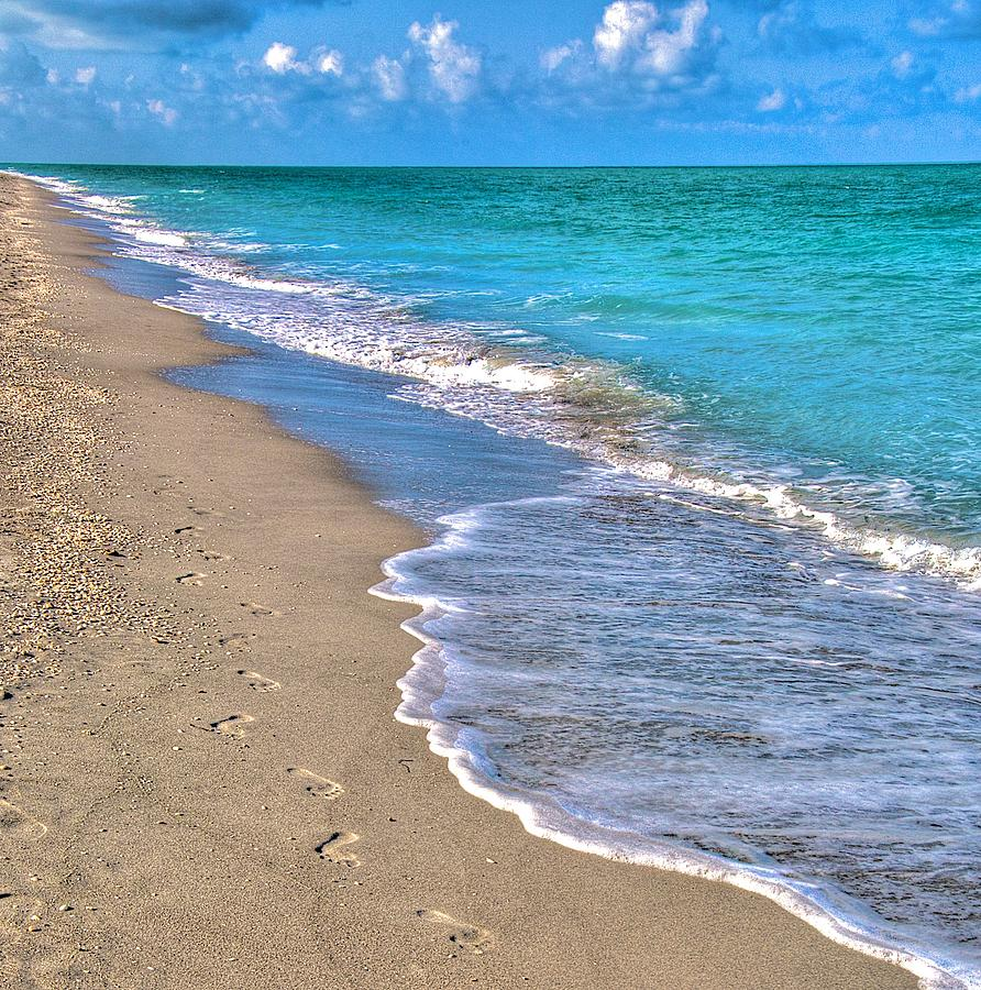Footprints In The Sand Photograph by William Wetmore