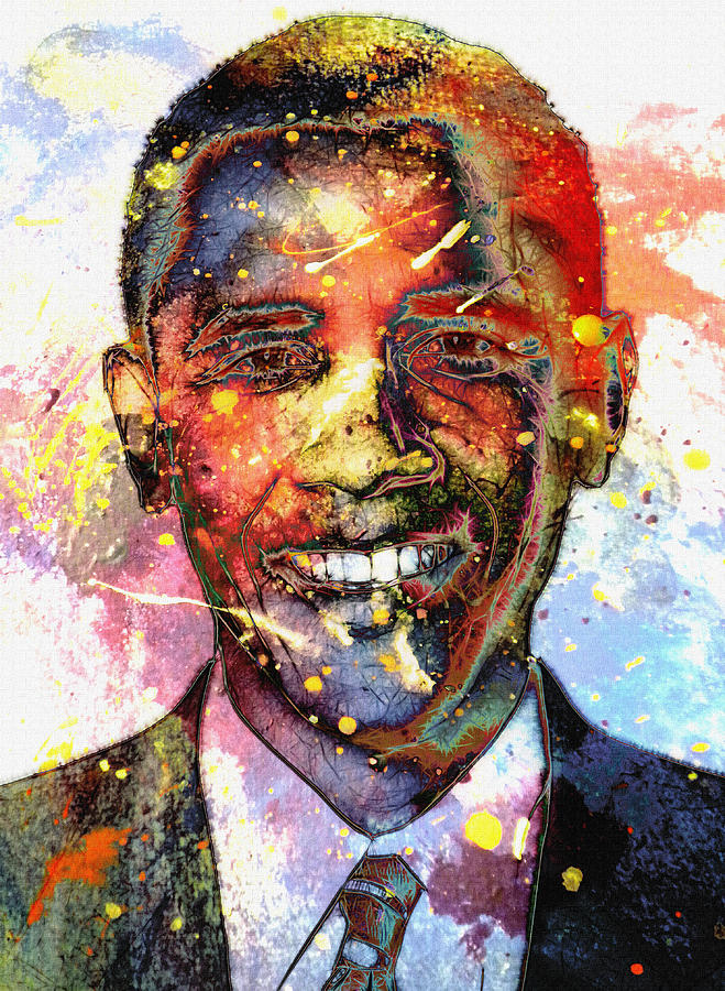 President Barack Obama Color Colored World Painting Usa Us 44th United States Painting - For A Colored World by Stefan Kuhn