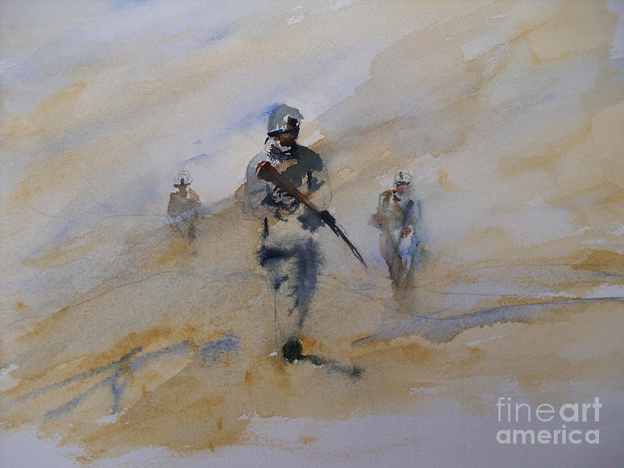 Iraq Painting - For John by Sandra Strohschein